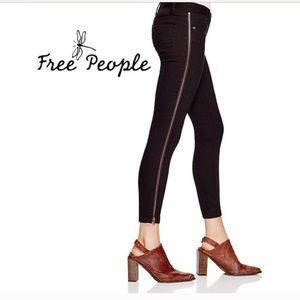 Free People Jeans with Zipper Trim